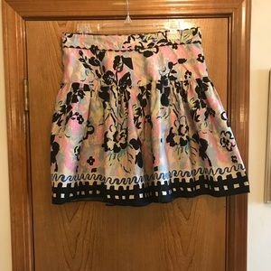 Anna Sui for Anthropologie floral skirt